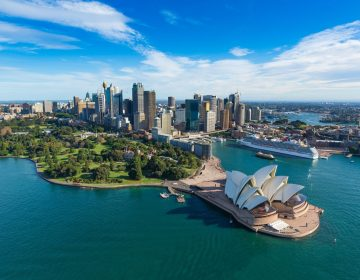 Sydney Opera House Circular Quay Australia Aerial Photograph
