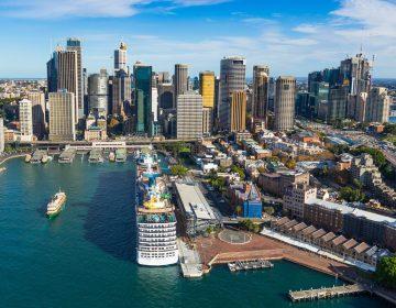 Circular Quay Sydney Australia Aerial Image