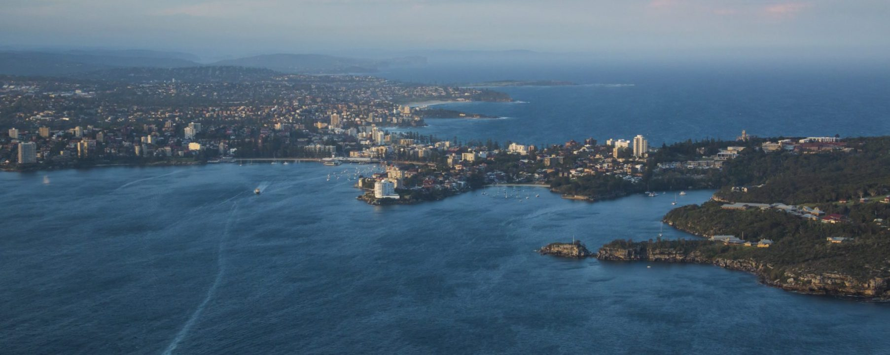 Manly Sydney Australia Dusk Aerial Photo