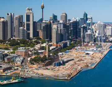 Construction Aerial Photography Sydney Harbour
