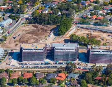 Aerial Photograph Construction Site Australia