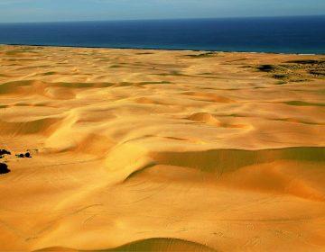 Sand Dunes Shore Aerial Photograph Australia