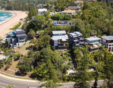 Custom Aerial Photograph Sydney Beach Real Estate