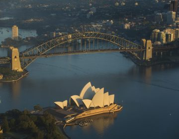Sydney Harbour Bridge Helicopter Aerial Image