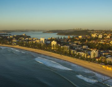 Beach Aerial Image Sydney Australia