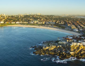 Sydney Coastline City Skyline Aerial Image