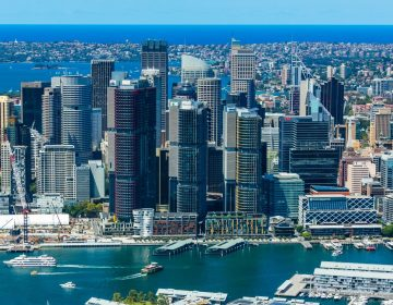 Commercial Real Estate Sydney Australia Helicopter Photo