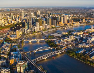 Brisbane River Commercial Real Estate Aerial Photo